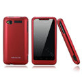 Nillkin scrub hard skin cases covers for HTC Lexicon S610D - Red