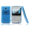 Nillkin scrub skin silicone cases covers for HTC Chacha A810e G16 - Blue