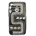 Bling Bow S-warovski crystals diamond cases covers for iPhone 4G - Black