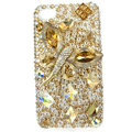 Bling Butterfly S-warovski crystals diamond cases covers for iPhone 4G - Gold