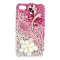 Bling Butterfly S-warovski crystals diamond cases covers for iPhone 4G - Pink