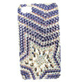 Bling Five-pointed star S-warovski crystals diamond cases covers for iPhone 4G - Purple