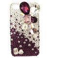 Bling Large crystal S-warovski crystals diamond cases covers for iPhone 4G - Red