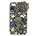 Bling Monkey S-warovski crystals diamond cases covers for iPhone 4G - Black