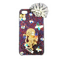 Bling Monkey S-warovski diamond crystals cases covers for iPhone 4G - Gold