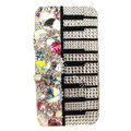 Bling Piano S-warovski diamond crystals cases covers for iPhone 4G - White