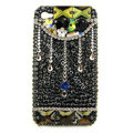 Bling Raindrop S-warovski crystals diamond cases covers for iPhone 4G - Black