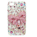 Bling S-warovski Bowknot crystal diamond cases covers for iPhone 4G - Pink