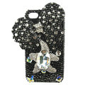 Bling S-warovski Butterfly crystal diamond cases covers for iPhone 4G - Black