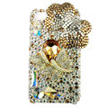 Bling S-warovski Butterfly crystal diamond cases covers for iPhone 4G - Gold