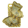 Bling S-warovski Butterfly crystal diamond cases covers for iPhone 4G - Yellow