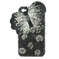 Bling S-warovski Butterfly crystals diamond cases covers for iPhone 4G - Black