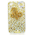 Bling S-warovski Butterfly diamond crystal cases covers for iPhone 4G - Yellow