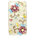 Bling S-warovski Flowers crystals diamond cases covers for iPhone 4G - Red
