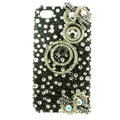 Bling S-warovski Hairpin Circle diamond crystal cases covers for iPhone 4G - Black