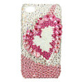 Bling S-warovski Heart covers diamond crystal cases for iPhone 4G - Pink