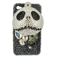 Bling S-warovski Skull diamond crystal cases covers for iPhone 4G - Black