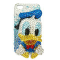 Bling S-warovski Ugly Duckling crystals diamond cases covers for iPhone 4G - Blue