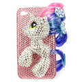 Bling S-warovski Unicorn crystals diamond cases covers for iPhone 4G - Pink
