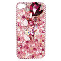 Bling S-warovski crystals diamond cases covers for iPhone 4G - Pink