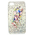 Bling S-warovski crystals diamond cases covers for iPhone 4G - White