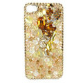 Bling S-warovski crystals diamond cases covers for iPhone 4G - Yellow