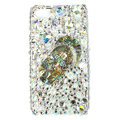 Bling Slippers S-warovski crystals diamond cases covers for iPhone 4G - White
