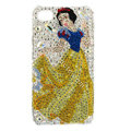 Bling Snow White S-warovski crystals diamond cases covers for iPhone 4G - Yellow