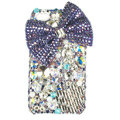 Bling bowknot S-warovski crystals diamond cases covers for iPhone 4G - Purple
