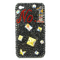 Bling Butterfly NO1 S-warovski crystal diamond cases covers for iPhone 4G - Black