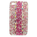 Bling S-warovski crystal diamonds cases covers for iPhone 4G - Pink