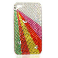 Bling little Butterflys S-warovski crystals diamond cases covers for iPhone 4G - White