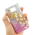 Bling Magpies S-warovski crystals diamond cases covers for Samsung i9100 Galasy S II S2 - Pink