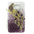 Bling Magpies S-warovski crystals diamond cases covers for Samsung i9100 Galasy S II S2 - Purple
