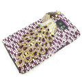 Bling Peacock S-warovski crystals diamond cases covers for Samsung i9100 Galasy S II S2 - Purple