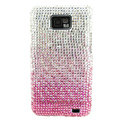 Bling S-warovski crystals diamond cases covers for Samsung i9100 Galasy S II S2 - Gradient Pink