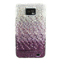 Bling S-warovski crystals diamond cases covers for Samsung i9100 Galasy S II S2 - Gradient Purple