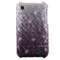 Bling crystals diamonds cases covers for iPhone 3G 3GS - Gradient Purple