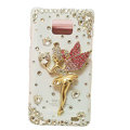 Angel girl bling S-warovski crystals cases covers for Samsung i9100 Galasy S II S2 - White