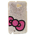 Bling Bow S-warovski crystals diamond cases covers for Samsung Galaxy Note I9220 - Pink