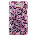 Bling Leopard S-warovski crystals diamonds cases covers for Samsung i9100 Galasy S II S2 - Pink