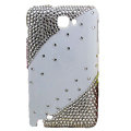Bling S-warovski crystals diamond cases covers for Samsung Galaxy Note I9220 - White