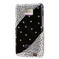 Bling S-warovski crystals diamonds cases covers for Samsung i9100 Galasy S II S2 - Black