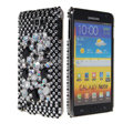 Bling big crystals diamond cases covers for Samsung Galaxy Note I9220 - Black