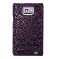 Bling crystals diamond cases covers for Samsung i9100 Galasy S II S2 - Purple