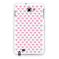 Hearts silicone cases covers for Samsung Galaxy Note i9220 N7000 - Red