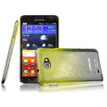 Imak Colorful raindrop cases covers for Samsung Galaxy Note i9220 N7000 - Gradient Yellow (Screen protection film)