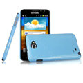 Imak ice cream hard cases covers for Samsung Galaxy Note i9220 N7000 i717 - Blue (Screen protection film)