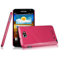 Imak ice cream hard cases covers for Samsung Galaxy Note i9220 N7000 i717 - Rose (Screen protection film)