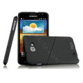 Imak ultra-thin hard skin cases covers for Samsung Galaxy Note i9220 N7000 i717 - Black (Screen protection film)